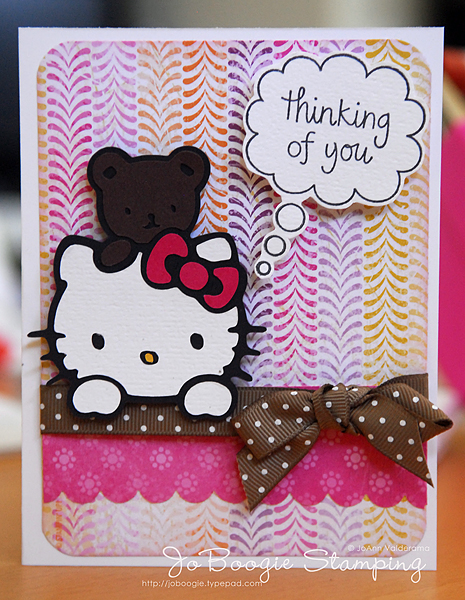 My cricut meets hello kitty 1 more month til my birthday melon mambo chocolate chip su white black bazzill dp su cricut cartridge hello kitty greetings cut at 2 34 sentiment stamp studio g m4hsunfo